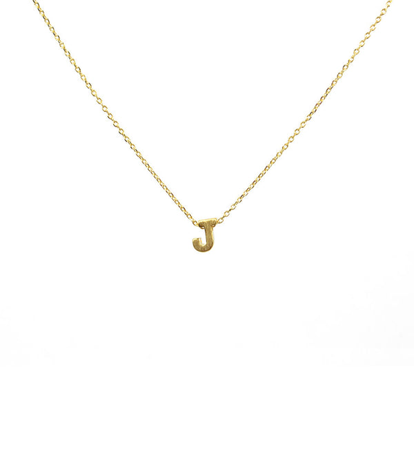 Initial Necklace Gold J