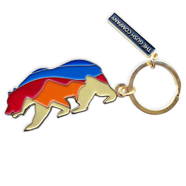Sunset Bear Keychain