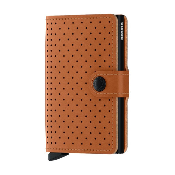 Miniwallet Perforated | Cognac
