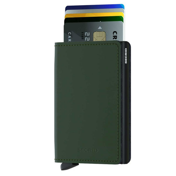Slimwallet Matte | Green-Black - West of Camden