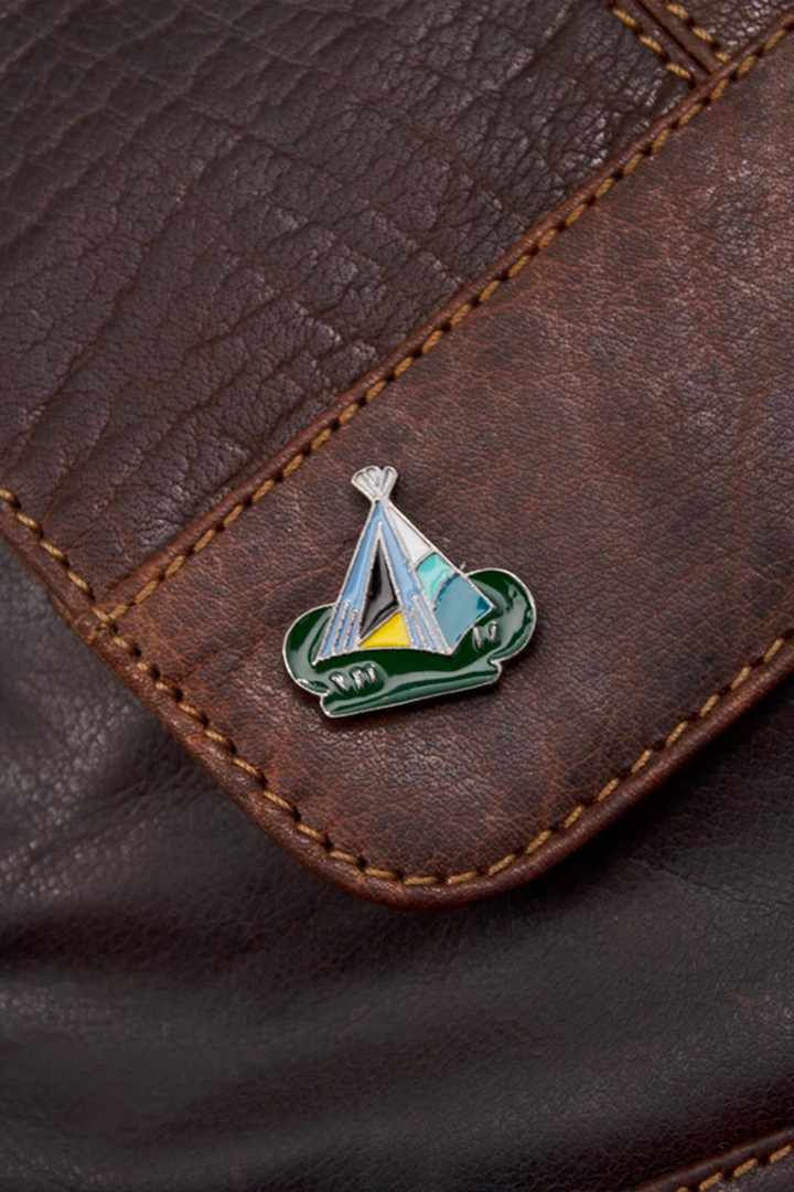 Tent Camping Enamel Pin - West of Camden