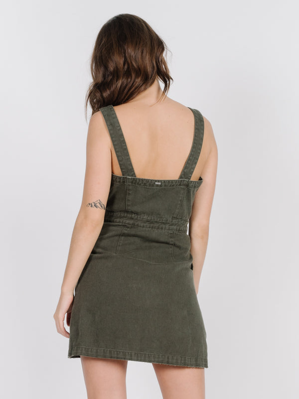 Catherine Dress | Army Green - West of Camden