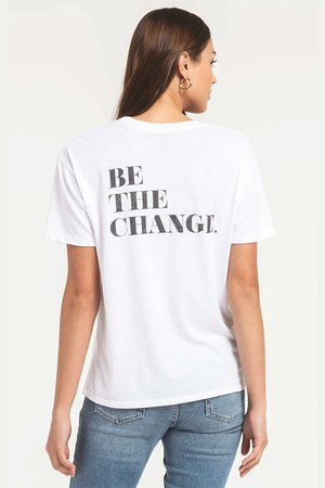 Be The Change Tee | White - West of Camden