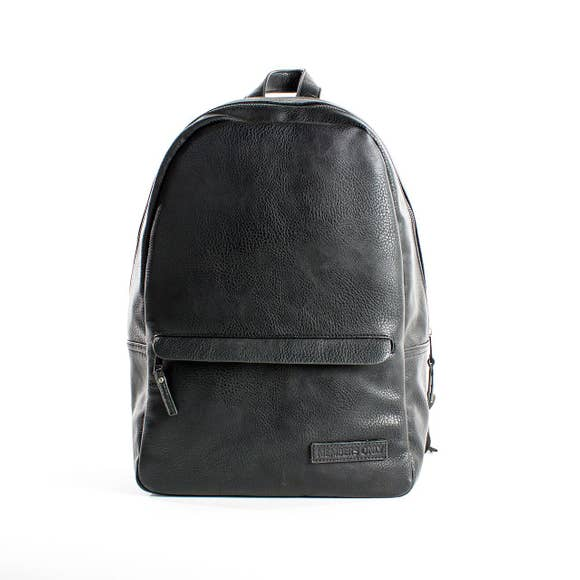 Pebbled Leather Backpack - West of Camden