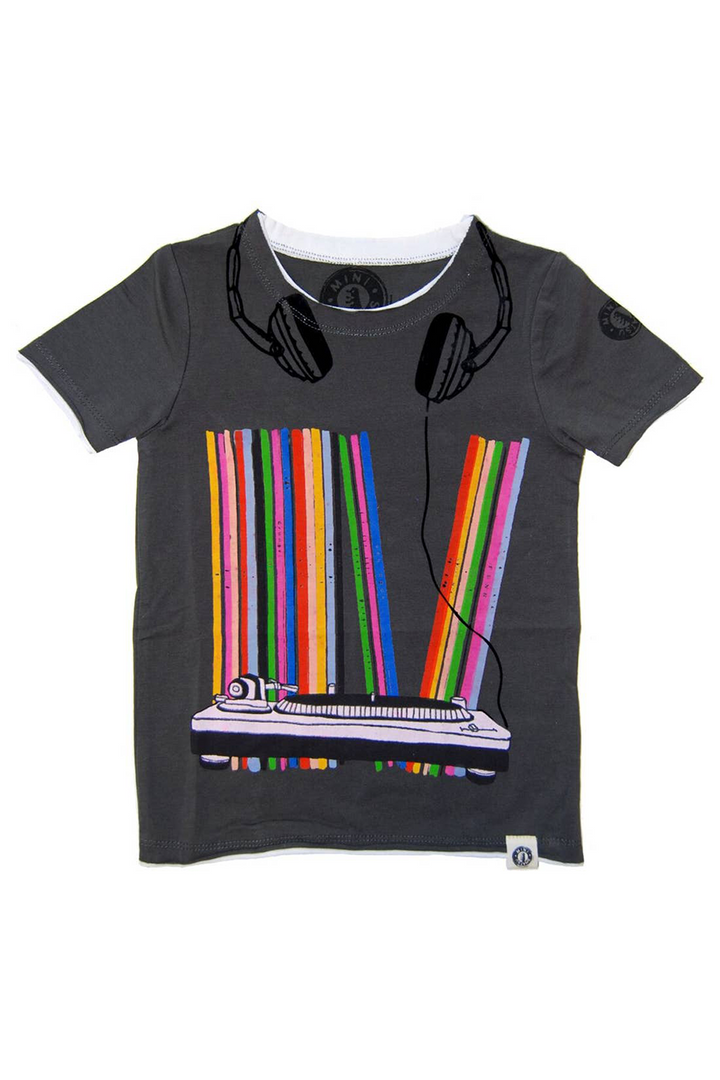 Vinyl Collection Kids Tee | Grey