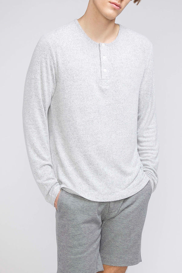 Hogan Knit Henley | H. Light Grey