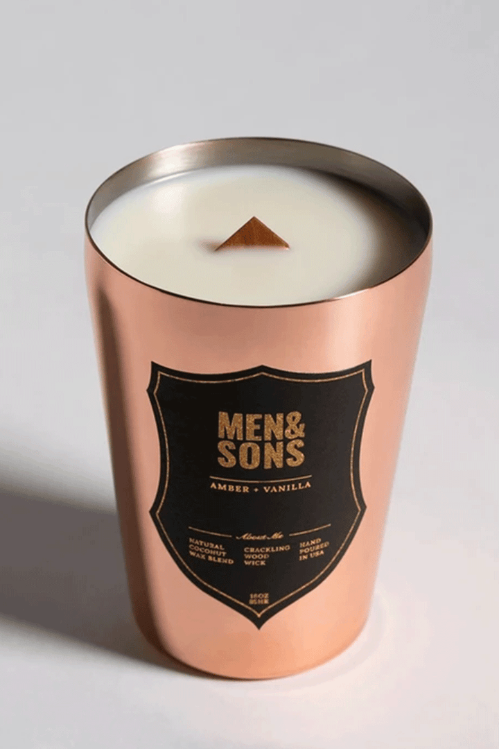 Amber + Vanilla Candle | Copper Tin