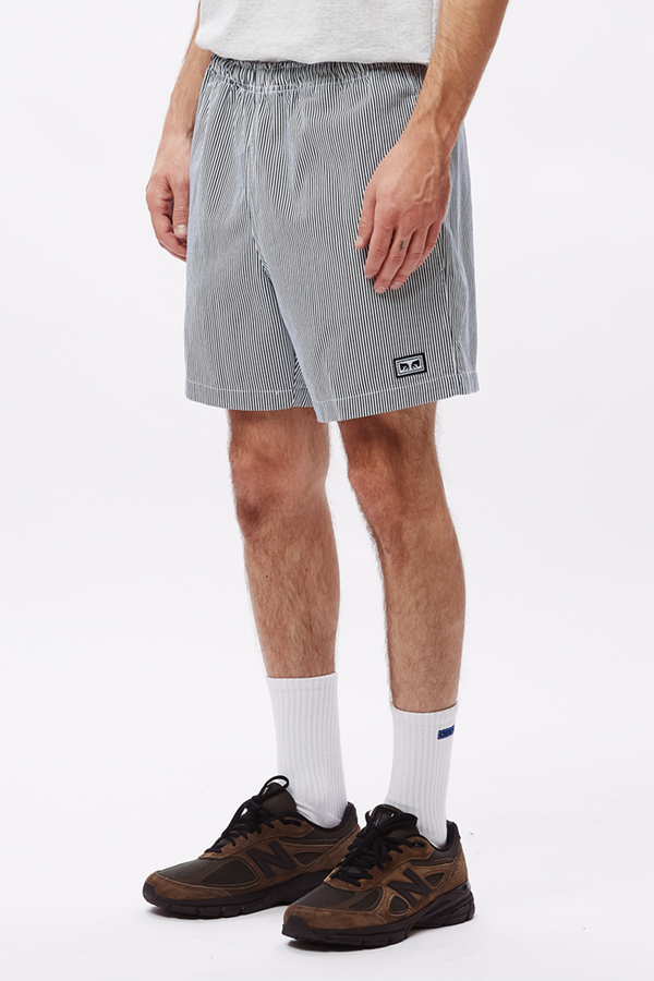 Easy Relaxed Twill Short | Navy Multi