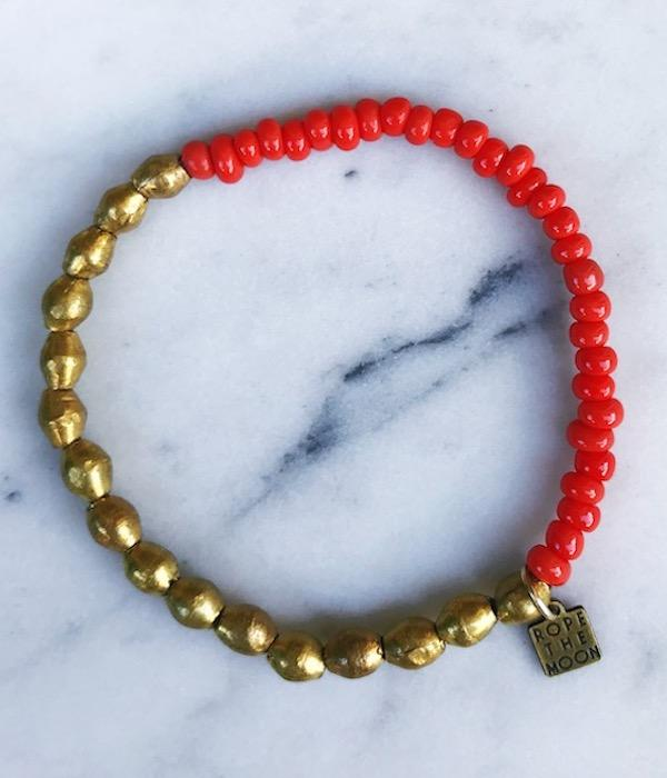 Sure Thing Bracelet / Orange - West of Camden
