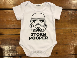 Storm Pooper Onesie | White - West of Camden