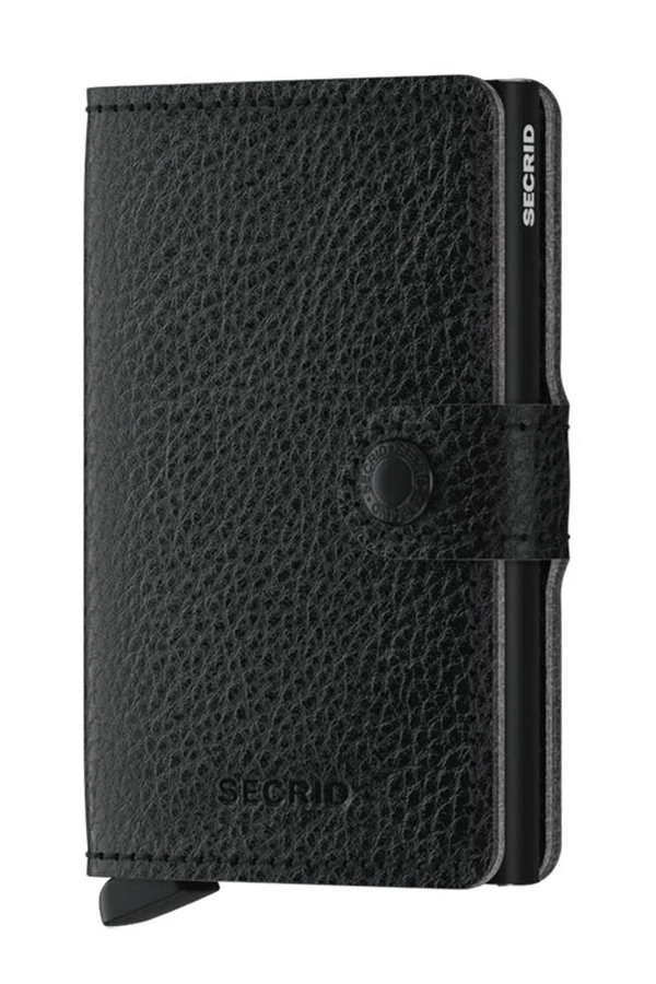 Miniwallet Vegetable Tanned | Black - West of Camden
