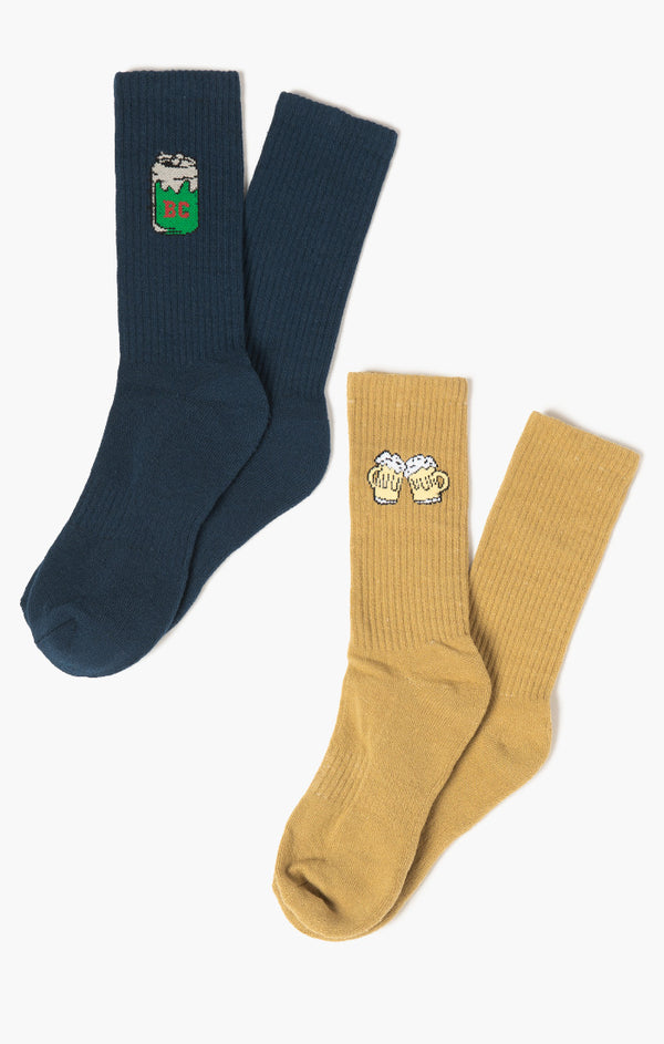 Cheers Mate 2-Pack Socks | Mustard/Slate