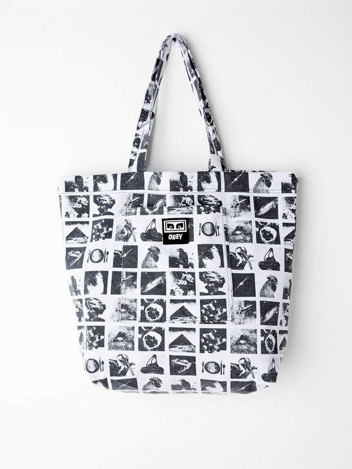 Wasted Tote Bag Zine White Multi