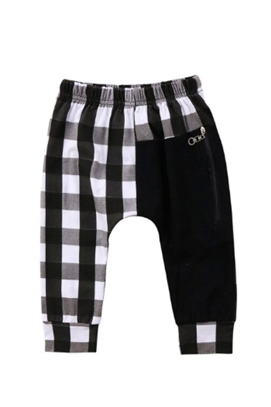 Checkered Kids Jogger | Black/White - West of Camden