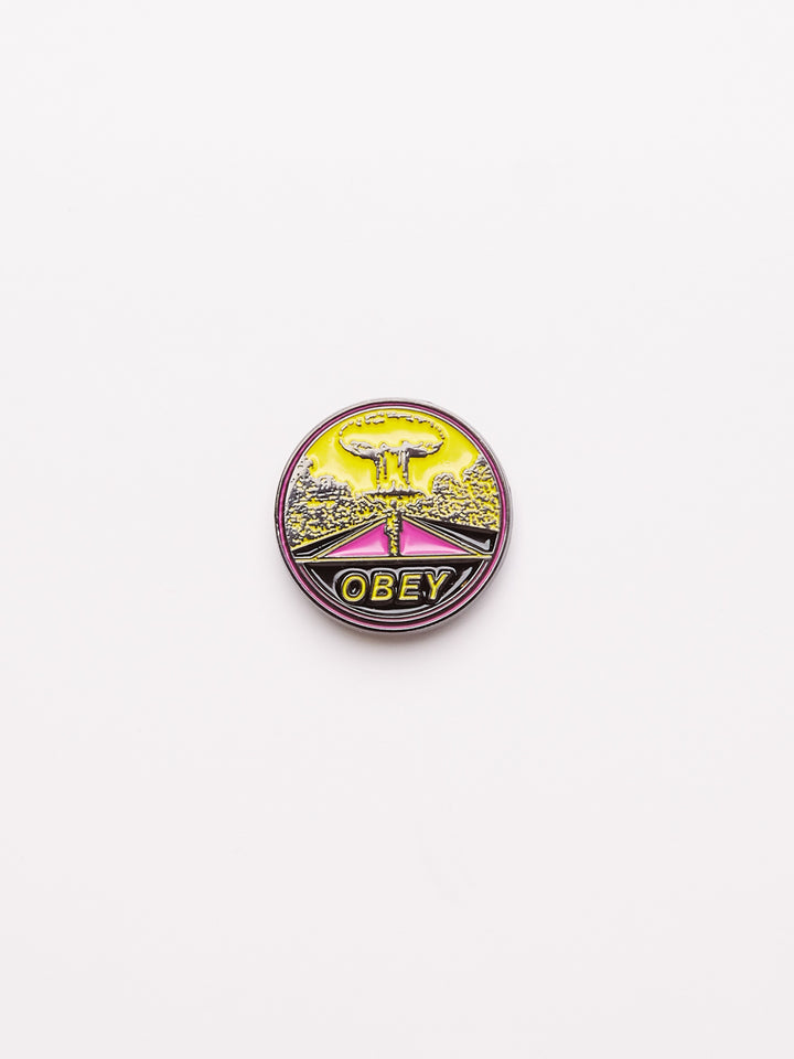Obey Mushroom Cloud Pin - West of Camden