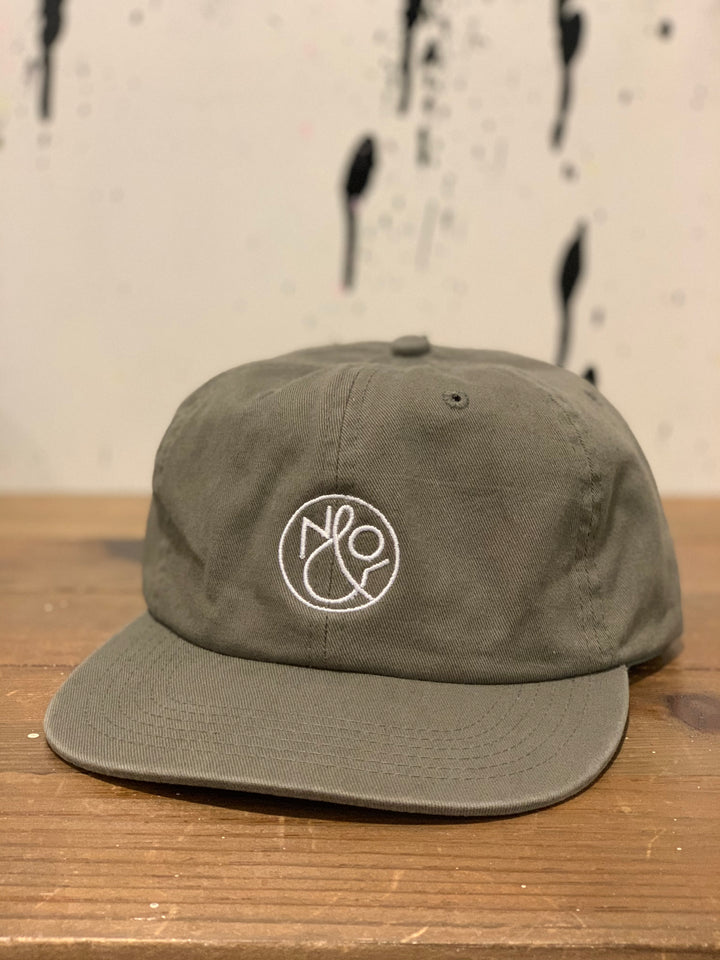 No & Co Logo Unconstructed Cap | Washed Olive - West of Camden