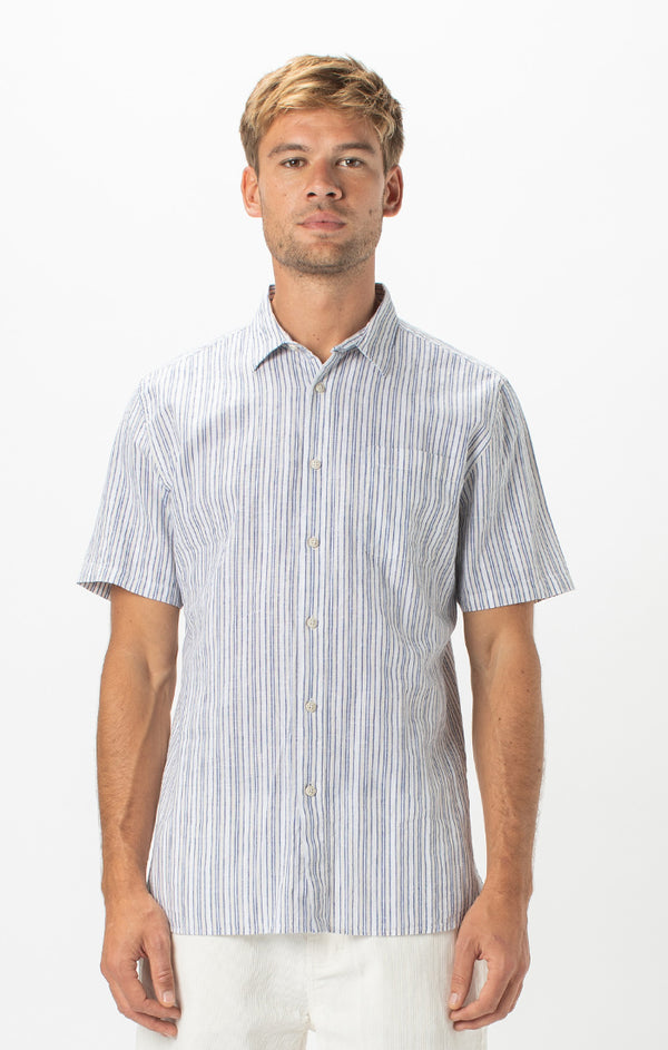 Holiday Shirt | White Stripe - West of Camden