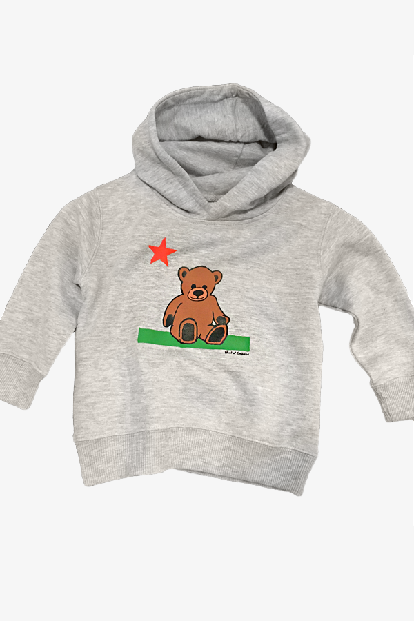 Teddy Youth Hoodie | Heather Grey - West of Camden