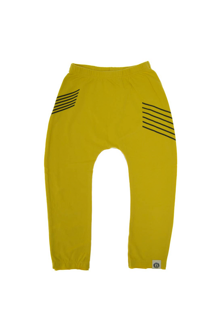 Vinyl DJ Kids Joggers | Yellow