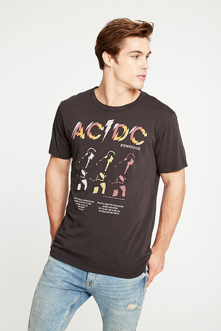 ACDC Powerage Tee | Vintage Black