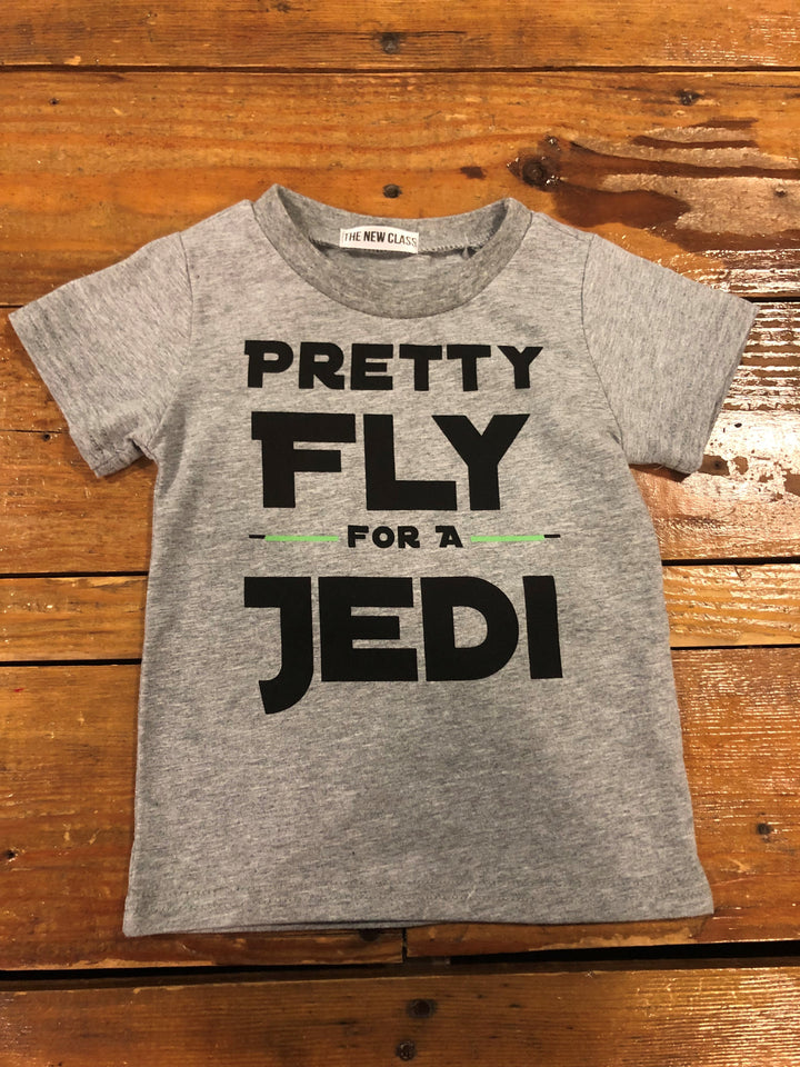 Fly For A Jedi Tee | Grey - West of Camden