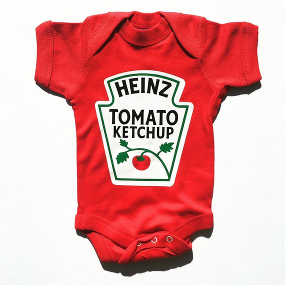 Heinz Ketchup Baby Onesie | Red - West of Camden
