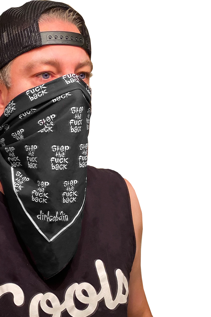 Dirt Cobain Step Back Bandana | Black