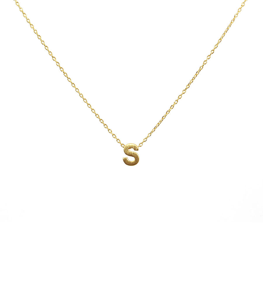 Initial Necklace Gold S - West of Camden