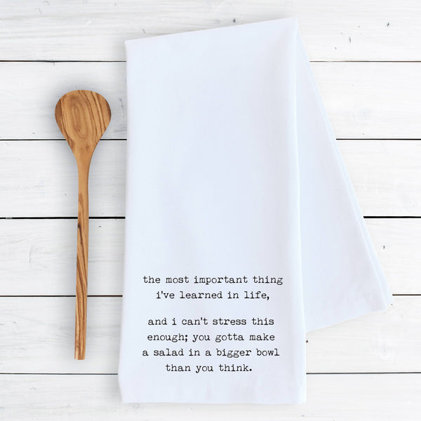 Most Important Thing Tea Towel | White