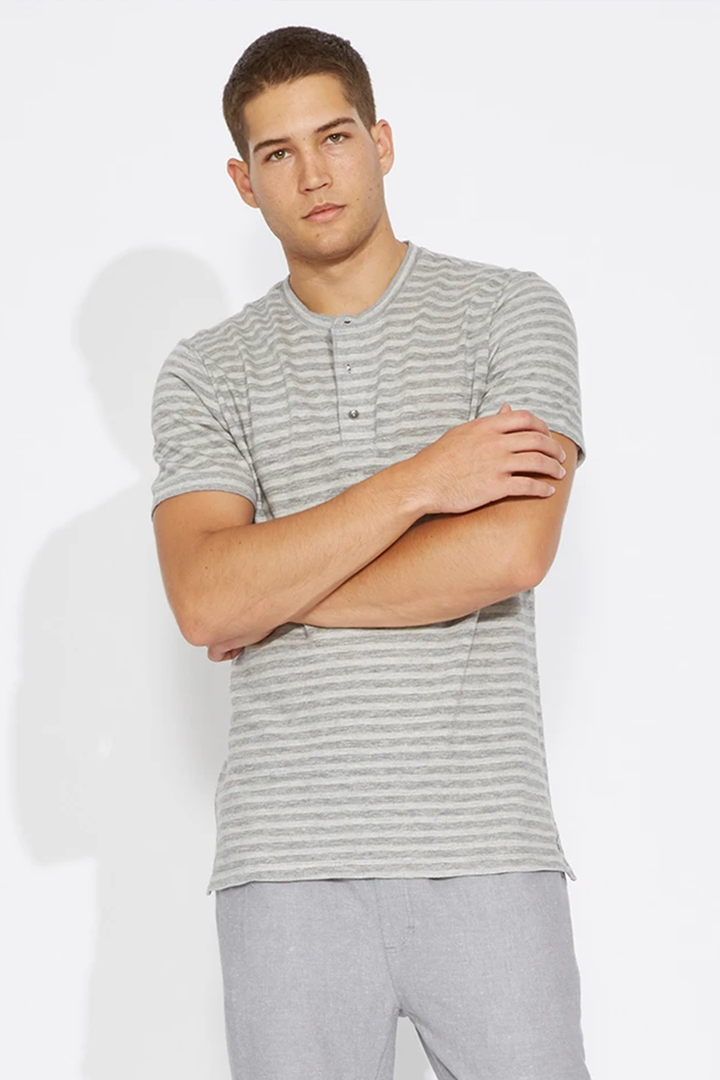 Haskett Step Up Henley | Heather Gray