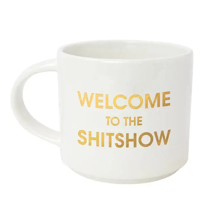 Welcome to the Shitshow Stackable Mug | White Gold