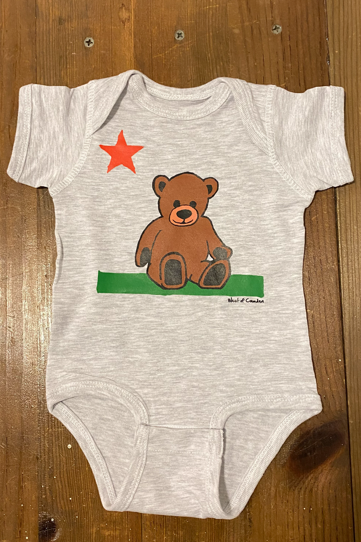 Teddy Onesie | Ash Grey - West of Camden