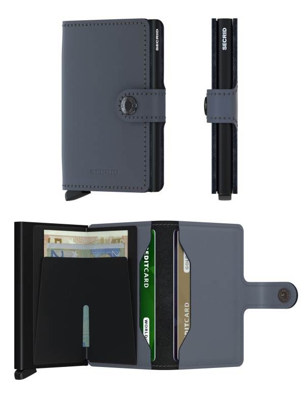 Miniwallet Matte | Grey-Black