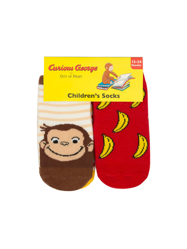 Curious George Socks | 4 Pack - West of Camden