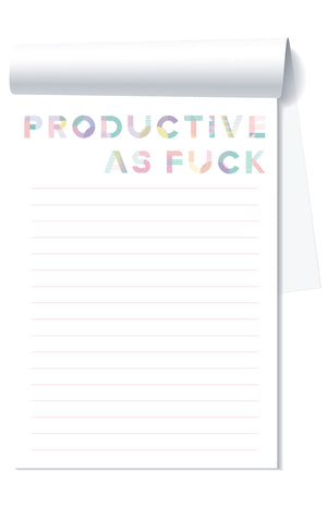 Productive As Fuck Notepad - West of Camden