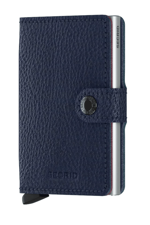 Miniwallet Vegetable Tanned | Navy - West of Camden