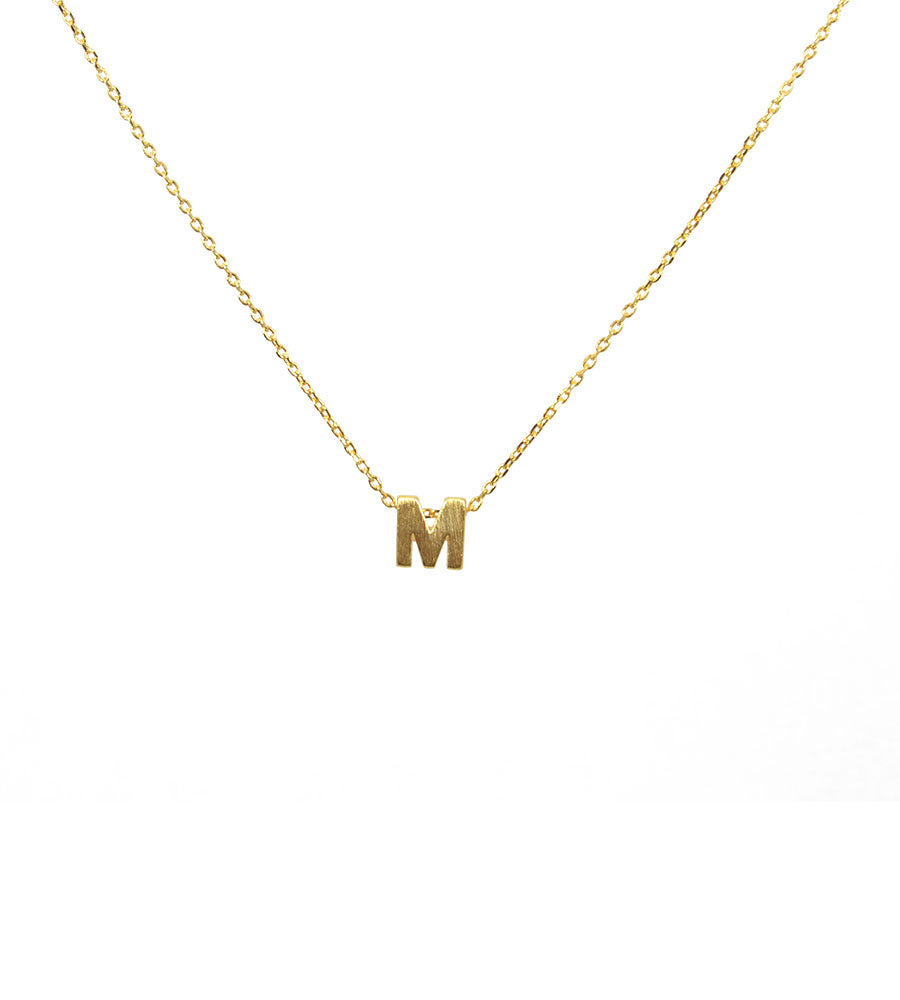 Initial Necklace Gold M - West of Camden