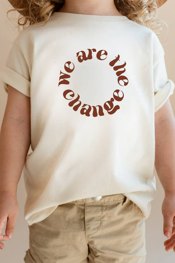 We Are The Change Kids Tee | Cream