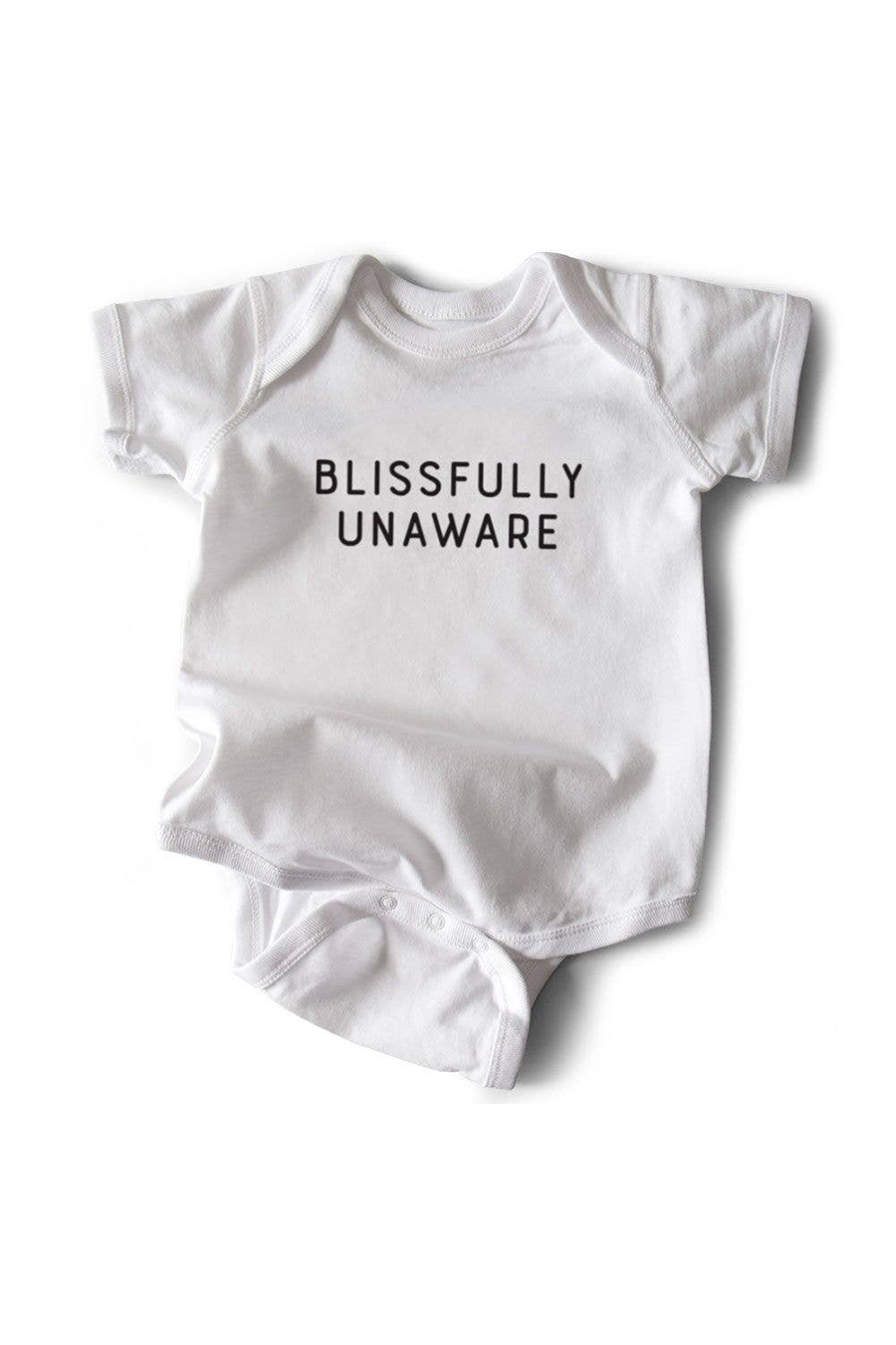 Blissfully Unaware Onesie | White - West of Camden