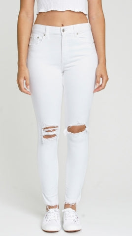 Call You Back High Rise Skinny Denim | White - West of Camden