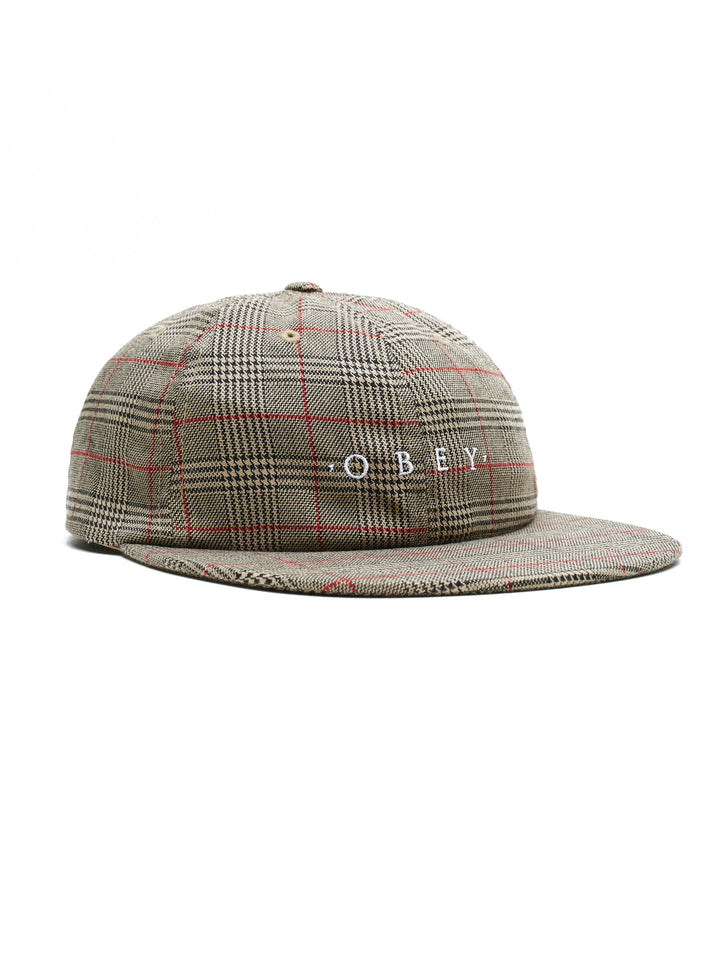 Holmes 6 Panel Strapback | Khaki Multi - West of Camden