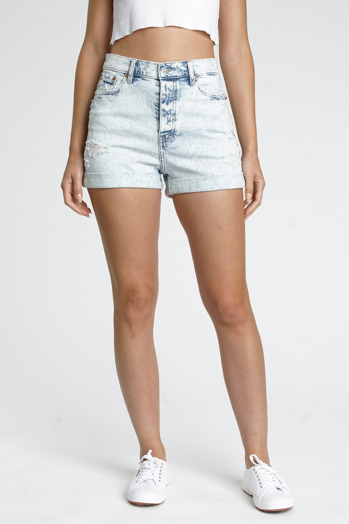 Dads Girl High Rise Cuff Shorts | P. Cloudy - West of Camden