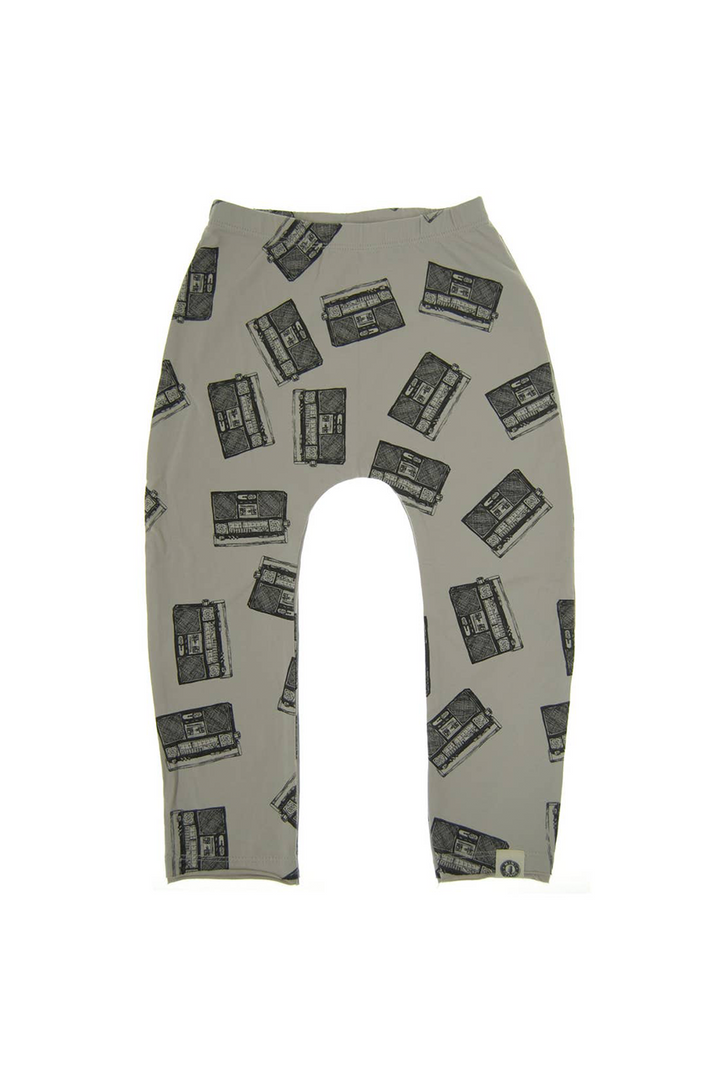 Allover Boom Box Kids Joggers | Grey