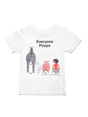 Everyone Poops Tee | White - West of Camden