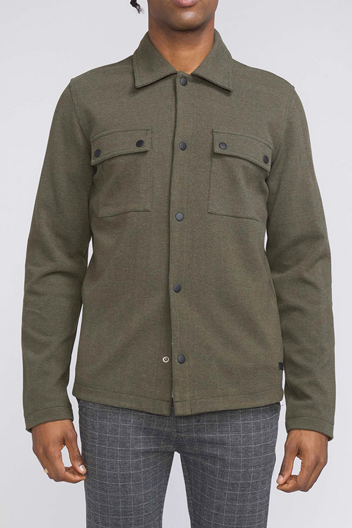 Bennett Shirt Jacket | Dark Olive