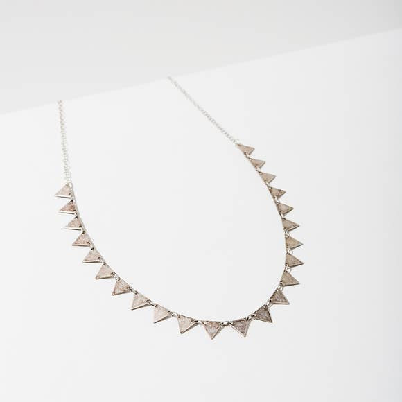 Candra Triangle Necklace | Silver - West of Camden