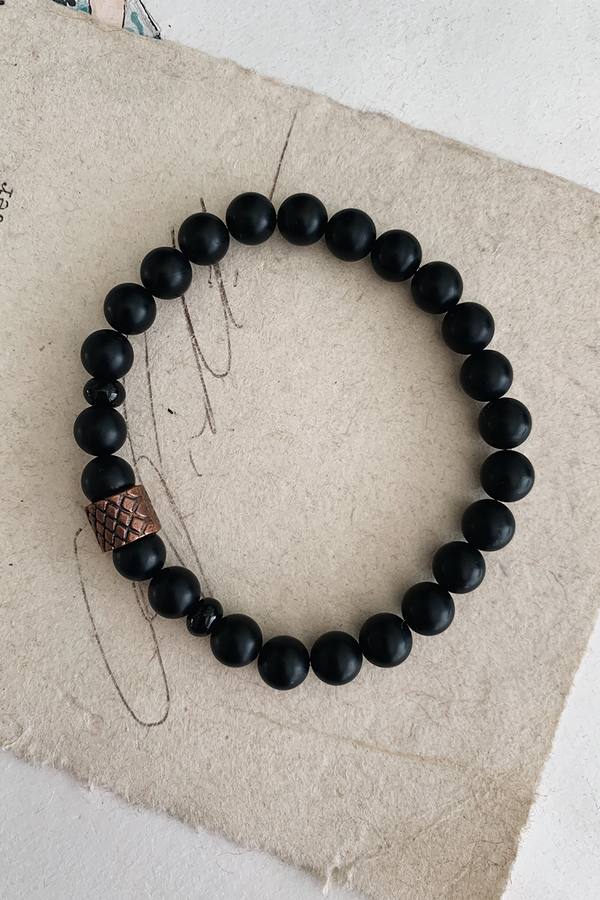 Quarantine Bracelet | Matte Onyx + Copper - West of Camden