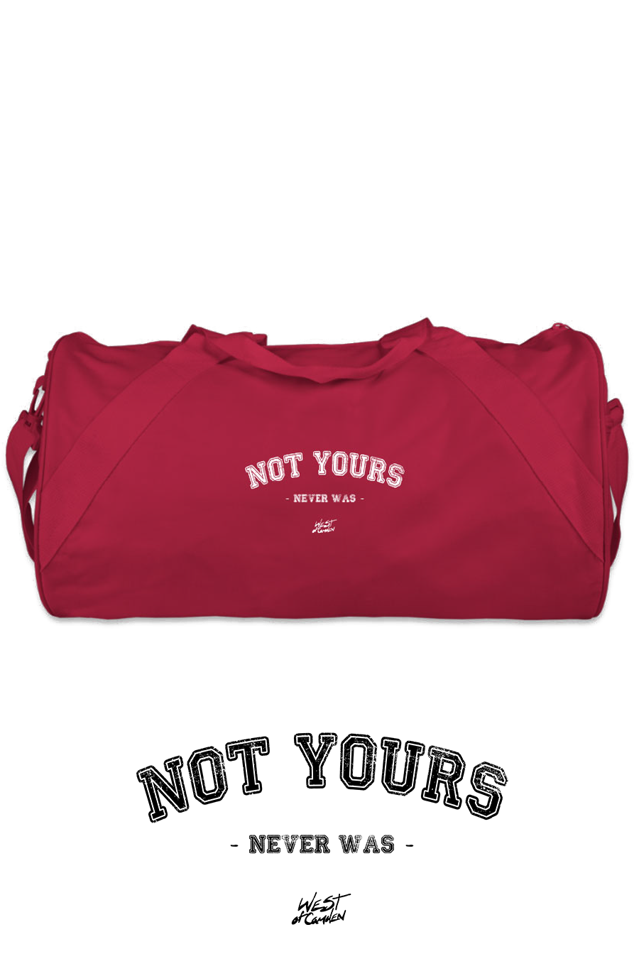 Not Yours Duffel Bag | Red - West of Camden