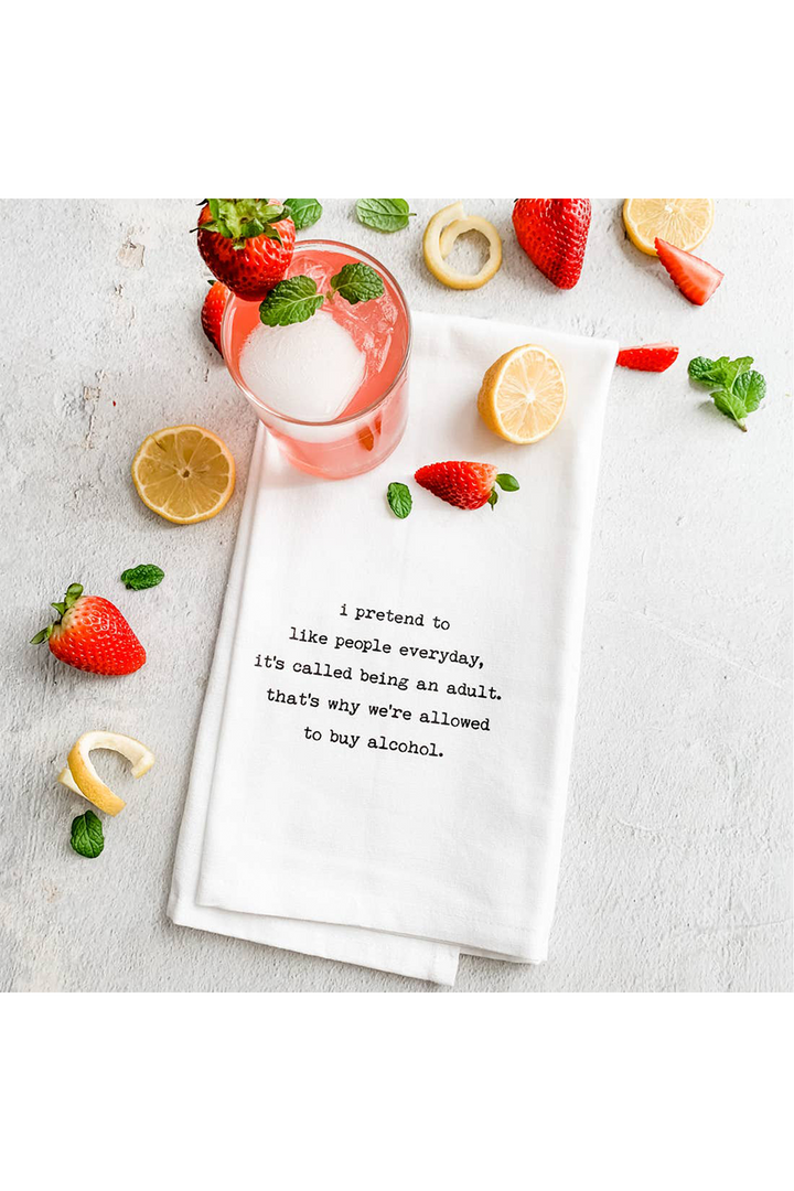 Being An Adult | Tea Towel