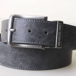 Marbled Leather Belt | Dark Grey - West of Camden
